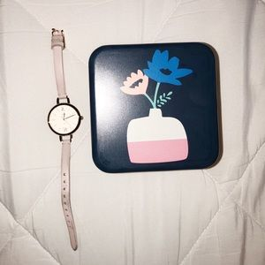 rose gold FOSSIL watch with box
